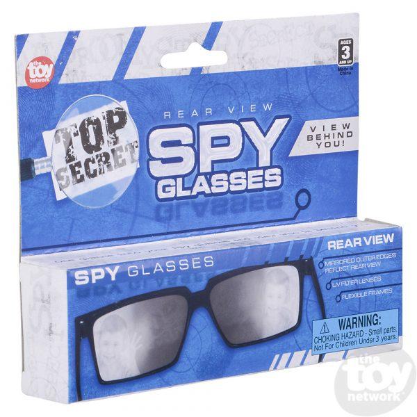 Spy Look Behind Glasses