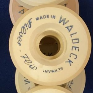 Vintage Waldeck Silver Flip Wheels