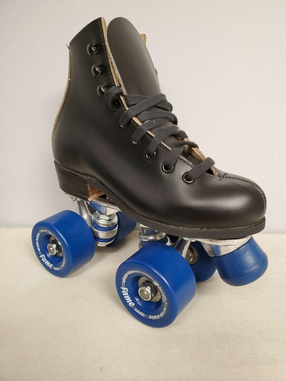 Vintage Roller skates Red leather skates - Roller skates Adjustable size roller skates